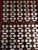 100 NATIONAL COMMEMORATIVE SOCIETY NCS STERLING SILVER 925 PROOF COIN-MEDALS