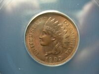 1903 INDIAN HEAD CENT PENNY ANACS MINT STATE 62 BRN