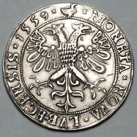 1559 GERMANY LUBECK SILVER THALER TALER COIN