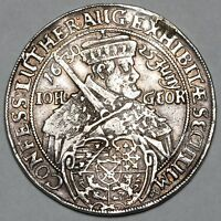 1630 JOHN GEORGE I GERMANY SAXONY AUGSBURG CONFESSION SILVER