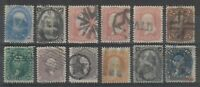 USA 1860S SELECTION WITH FANCY CANCELS INCL 68 71 76 78 90