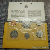 1969 CANADA PROOFLIKE 6 COIN ORIGINAL SET MULTIPLE SETS AVAILABLE COINSOFCANADA