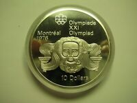 1974 PROOF $10 1976 MONTREAL OLYMPICS 5 HEAD ZEUS COIN ONLY CANADA .925 SILVER