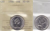 1986 ICCS MS64 25 CENTS CANADA TWENTY FIVE QUARTER