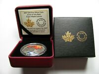 2017 PROOF $20 JEWEL OF THE RAIN 2 SUGAR MAPLE CANADA .9999 SILVER TWENTY DOLLA