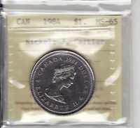 1984 ICCS MS65 $1 JACQUES CARTIER CANADA ONE DOLLAR NICKEL
