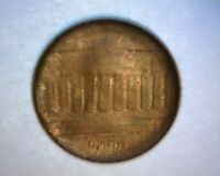 LINCOLN CENT CAPPED DIE 100  BROCKAGE TONED REV.  ><