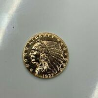1927 2 1/2 DOLLARS INDIAN HEAD & EAGLE GOLD COIN UNITED STAT