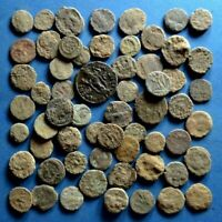 LOT OF 60 UNCLEANED ROMAN BRONZE COINS