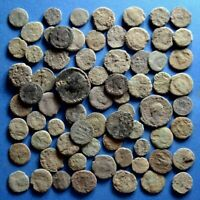 LOT OF 70 UNCLEANED ROMAN BRONZE COINS