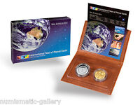 AUSTRALIA  2008 INTERNATIONAL YEAR OF PLANET EARTH  2 COIN P