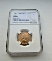 1967 SOVEREIGN  NGC MINT STATE 64