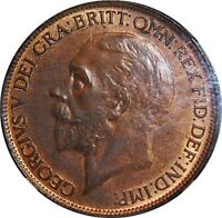 1926 ME, PENNY, GEORGE V.  UNCIRCULATED. NGC MINT STATE 63. RB.  . F. 195