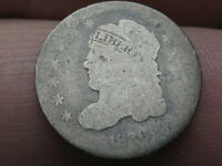 1836 SILVER CAPPED BUST HALF DIME- HEAVILY WORN, LOWBALL