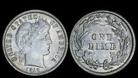 1910 10C BARBER HEAD DIME BU UNC EARLY US TYPE COIN