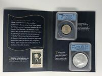 2015 DWIGHT D. EISENHOWER COIN AND CHRONICLES SET - ANACS GRADED