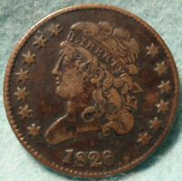 1826 CLASSIC HEAD HALF CENT VF ONLY 234,000 MINTED.   CONDITION