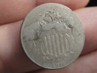 1876 SHIELD NICKEL 5 CENT PIECE- LOW MINTAGE