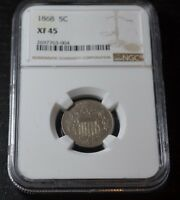 1868 5C SHIELD NICKEL ULTRA  VARIETY FS-903 GRADED BY NGC AS EXTRA FINE  45