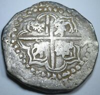 1628 SPANISH POTOSI P/T SILVER 8 REALES COB EIGHT REAL OLD DOLLAR TREASURE COIN