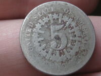 1866 OR 1867 SHIELD NICKEL 5 CENT PIECE- WITH RAYS