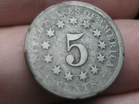 1869 SHIELD NICKEL 5 CENT PIECE- OLD TYPE COIN