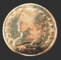 ON SALE UNTIL SOLD OUT   1828 US 1/2 CENT 13 STARS-VG-FINE CONDITION @ $69.00.