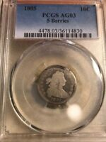 1805 DRAPED BUST DIME PCGS AG03 5 BERRIES