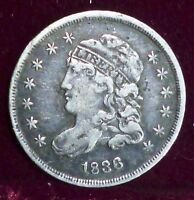 1836 CAPPED BUST HALF DIMES : SMALL 5C