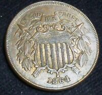 1864 TWO CENT  LARGE MOTTO USA TWO CENTS