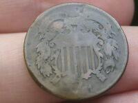 1871 TWO 2 CENT PIECE- CIVIL WAR TYPE COIN, LOW MINTAGE DATE