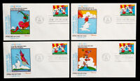 1974 WORLDS FAIR VINTAGE PETER MAX EXPO 74 FIRST DAY COVER FDC SET / SCOTT 1527