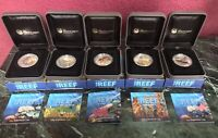 PERTH MINT AUSTRALIA SEA LIFE I SERIES:THE REEF 5 SILVER COIN COMPLETE PROOF SET