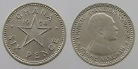 GHANA 6 PENCE 6D COIN KM 4 1958 UNC UNCIRCULATED    PRE DECIMAL ISSUE