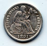 1891-S SEATED LIBERTY DIME -   SEE PROMO