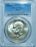 1974 S PCGS MINT STATE 66 SILVER $1 EISENHOWER IKE DOLLAR