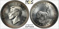 SOUTH AFRICA, 1951 GEORGE VI FIVE SHILLINGS, 5 SHILLINGS. PCGS PROOF 66. CROWN