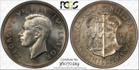 SOUTH AFRICA, 1947 GEORGE VI TWO SHILLINGS 2 SHILLINGS. PCGS PR 65. 2,600 MINTED