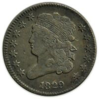 1829 CLASSIC HEAD HALF CENT, TOUGH DATE, EARLY TYPE COIN [4174.562]