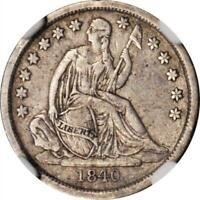 1840 NO DRAPERY SEATED LIBERTY DIME NGC EXTRA FINE -40 SMOOTH SURFACES-ATTRACTIVE COLOR