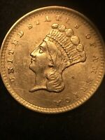 1856 $1 INDIAN HEAD GOLD COIN LIBERTY ONE DOLLAR