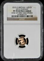 2015 GREAT BRITAIN 1/4 SOV. NGC PF70 ULTRA CAMEO ONE OF FIRS