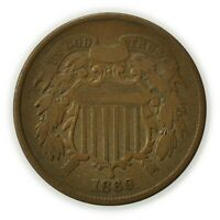 1869 TWO CENT PIECE, ODD DENOMINATION 2C COIN [4266.57]
