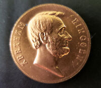 ABRAHAM LINCOLN INAUGURATED COPPER TOKEN MEDAL COIN