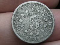 1870 SHIELD NICKEL 5 CENT PIECE- OLD TYPE COIN