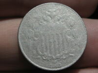 1868 SHIELD NICKEL 5 CENT PIECE- OLD TYPE COIN