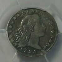1795 USA FLOWING HAIR HALF DIME PCGS F DETAILS REPAIRED