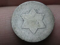 1851-1853 THREE 3 CENT SILVER TRIME- LOWBALL, HEAVILY WORN