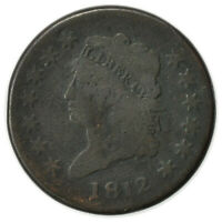 1812 CLASSIC HEAD LARGE CENT,  TOUGH DATE, EARLY TYPE COIN [4314.173]