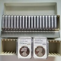 1986-2018 SILVER EAGLE PROOF SET, GRADED NGC PF69 ULTRA CAMEO, 32 COIN SET